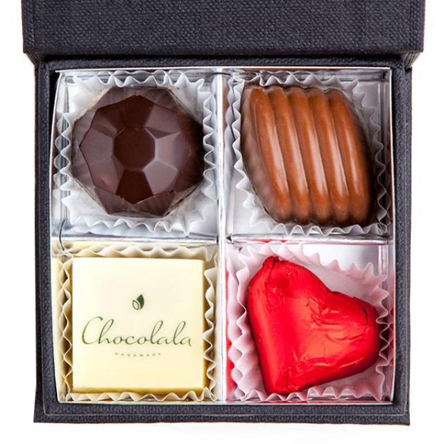 4 šokolādes konfektes